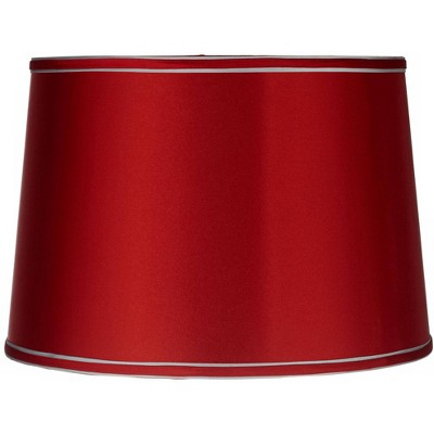 Brentwood Sydnee Satin Red Drum Lamp Shade 14x16x11 (Spider)