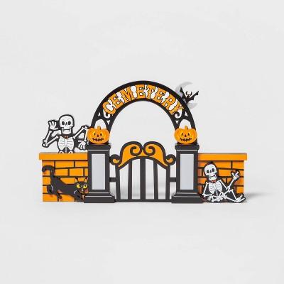 Mini Mantel Wood Cemetery Halloween Decorative Prop - Hyde & EEK! Boutique™