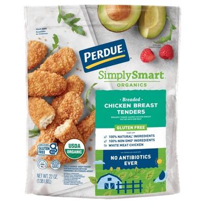 Perdue Simply Smart Organics Gluten Free Breaded Chicken Breast Tenders - Frozen - 22oz