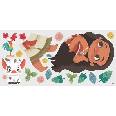 Vintage Moana Peel and Stick Giant Wall Decal