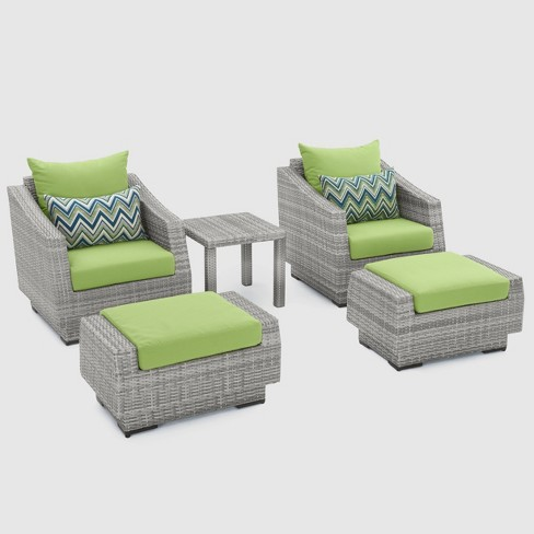 RST Brands Cannes 5-piece Club Chair & Ottoman Set - image 1 of 4