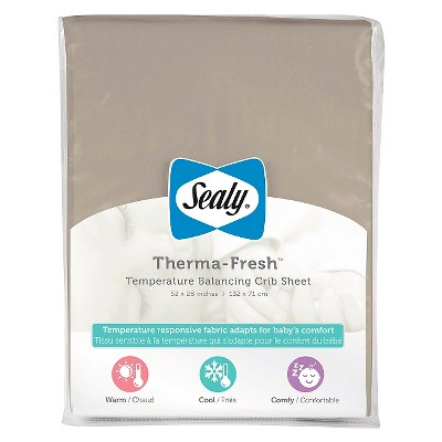 Sealy Therma-Fresh Cooling Crib Sheet - Brown