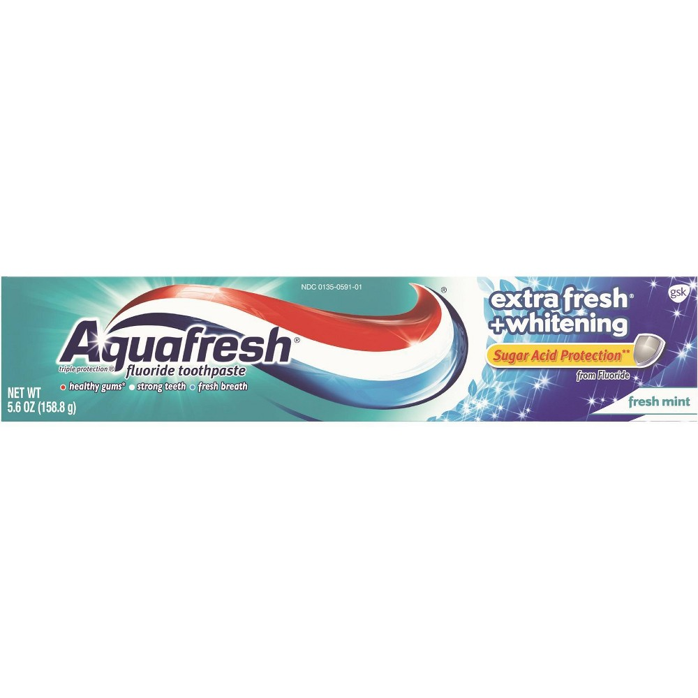Image of Aquafresh Extra Whitening Fresh Mint Toothpaste - 5.6oz