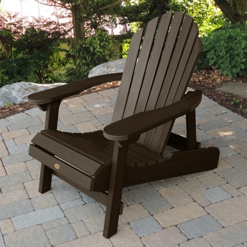 Hamilton Folding Reclining Adirondack Chair Weathered Acorn Highwood