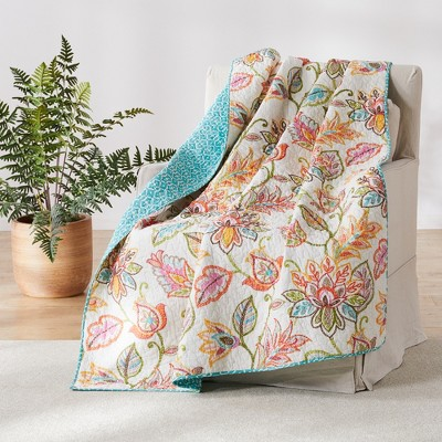 Sophia Floral Quilted Throw - Levtex Home