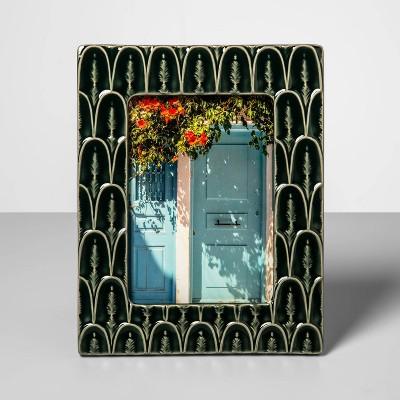 5  x 7  Stoneware Frame with Crackle Glaze Finish Green - Opalhouse™