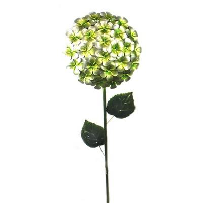 """Home & Garden 44.0"""" White Hydrangea Stake Garden Accent Flower Regal Art & Gift  -  Decorative Garden Stakes"""