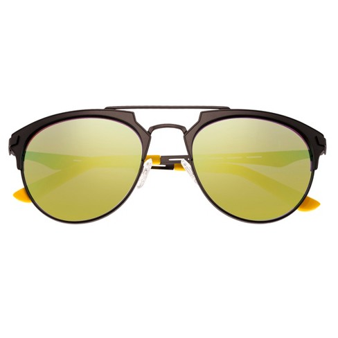 70221fd637dd Men's Breed Hercules Titanium Sunglasses - Gunmetal/Yellow : Target