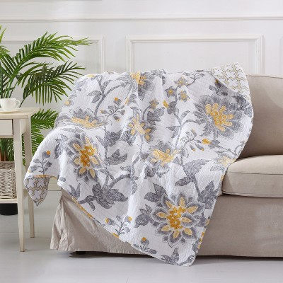 Reverie Floral Quilted Throw - Levtex Home