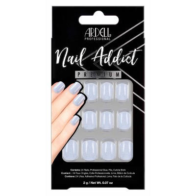 Ardell Nail Addict False Nails - Crystal Glitter - 24ct