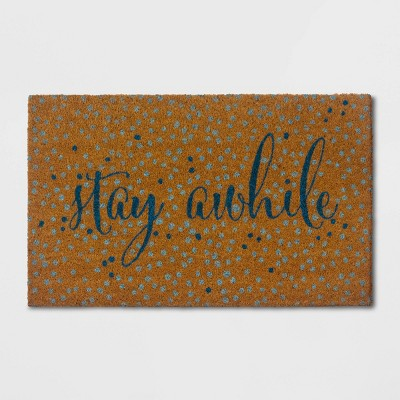 Stay Awhile Doormat Blue/Beige - Opalhouse™