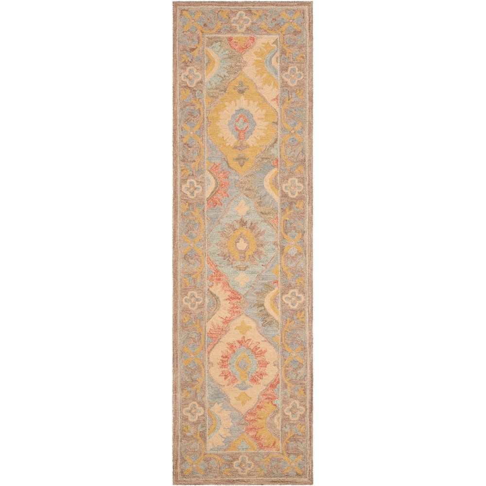 22X8 Floral Hooked Runner Ivory - Safavieh Promos
