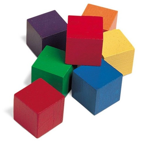 Learning Resources Wooden Color Cubes - image 1 of 4