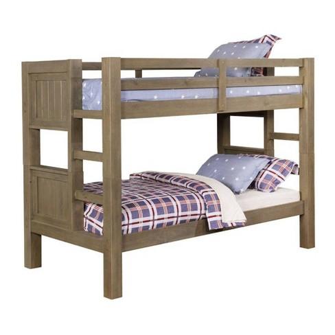 watch 40a43 caad4 Merritt Kids Bunk Twin/Twin Bed Gray - Sun & Pine