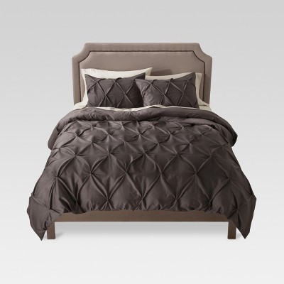Gray Pinched Pleat Duvet Cover Set (Full/Queen)3 Piece - Threshold™