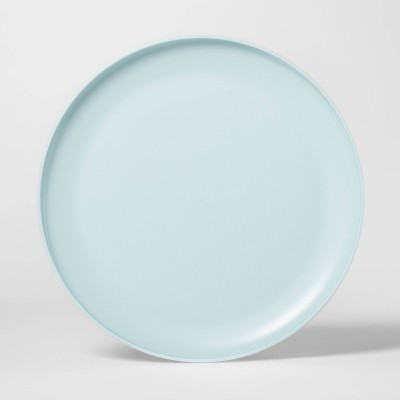 "10.5"" Plastic Dinner Plate Aqua - Room Essentials™"