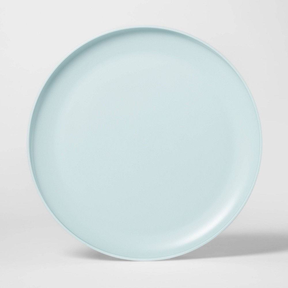 "Image of ""10.5"""" Plastic Dinner Plate Aqua - Room Essentials , Blue"""