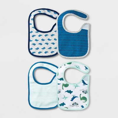 Baby Boys' 4pk Dino Bib - Cloud Island™ Blue