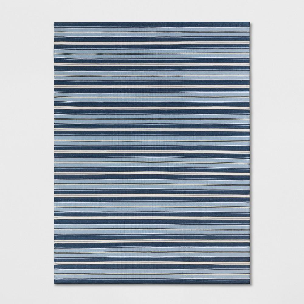 9'X12' Stripe Woven Area Rugs Blue - Threshold