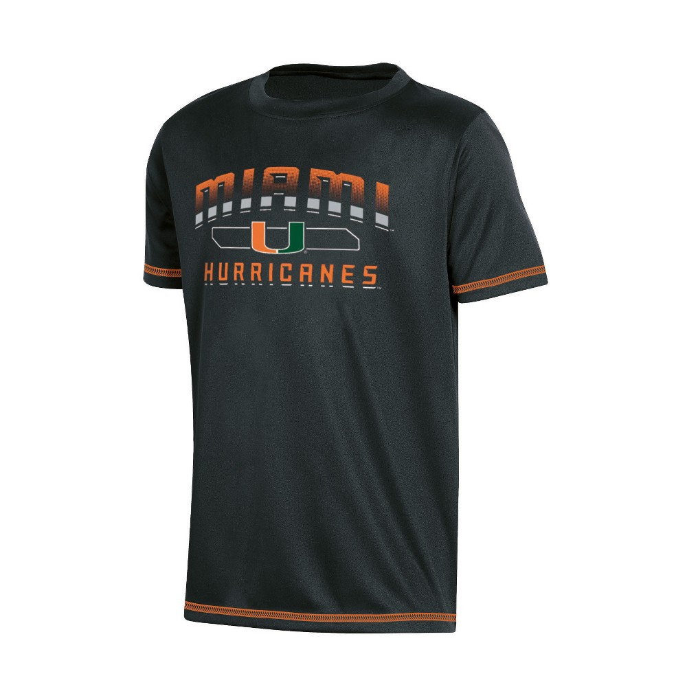 NCAA Boys' Poly T-Shirt Miami Hurricanes - S, Multicolored