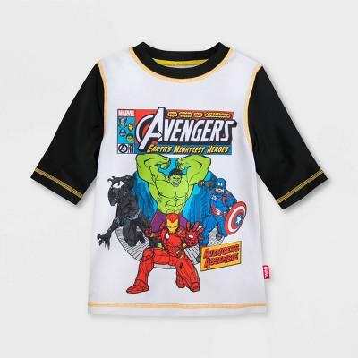 Boys' Marvel Avengers Rash Guard - White - Disney Store