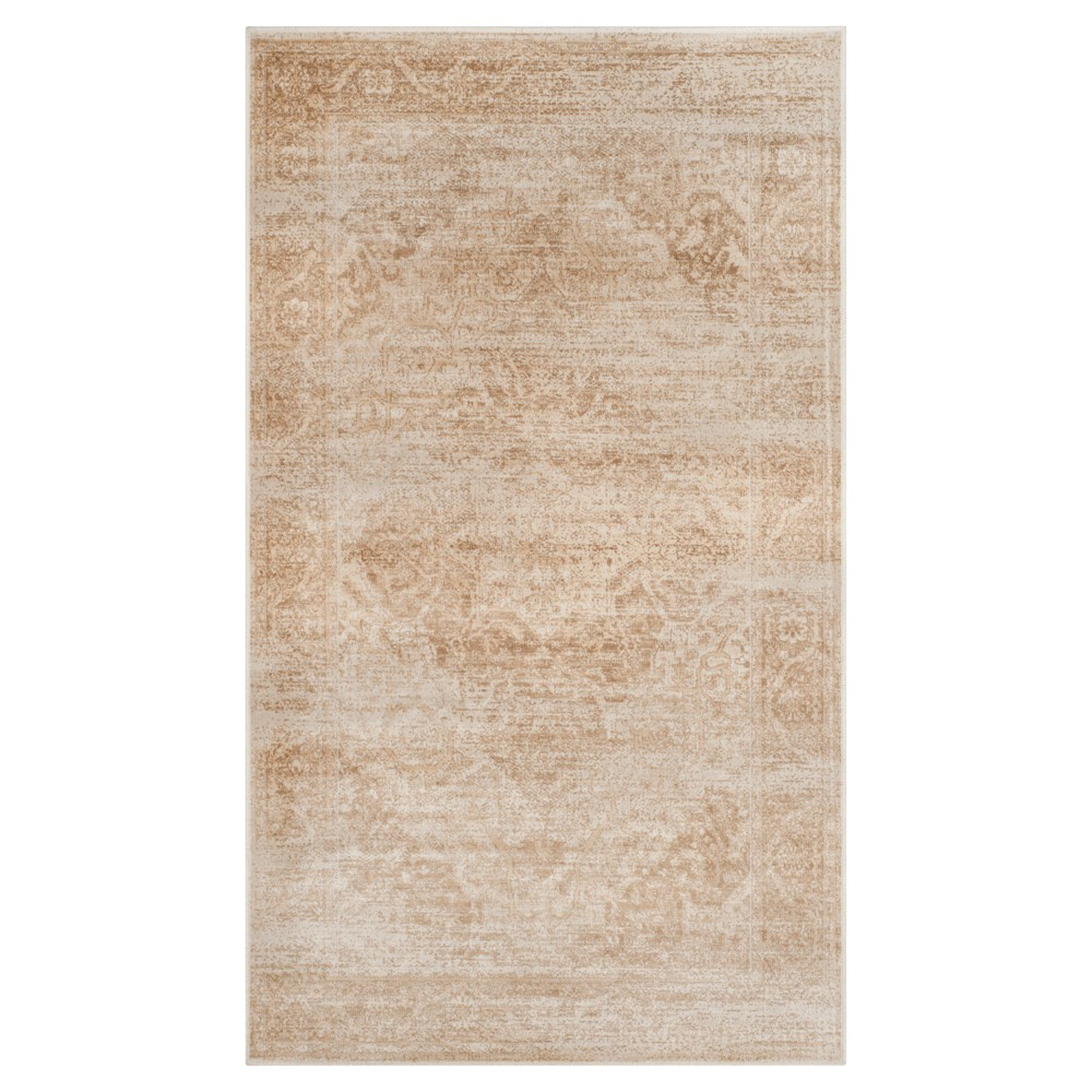 Best Review Stone Grey Medallion Loomed Accent Rug 33X57 Safavieh