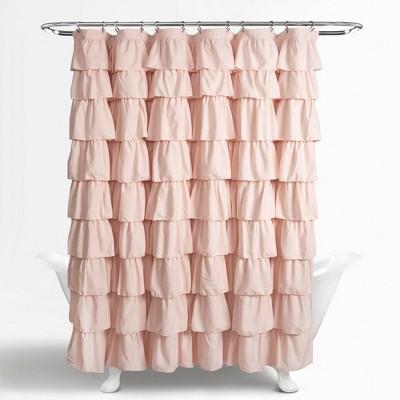 Ruffle Shower Curtain Blush Pink - Lush Décor