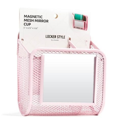 Magnetic Mesh Metal Locker Mirror Cup - Locker Style by UBrands - image 1 of 3
