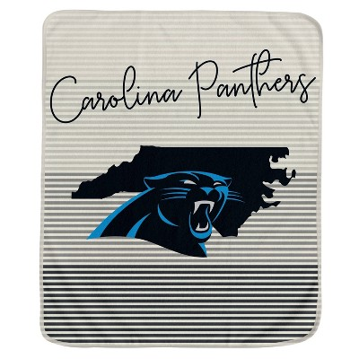 NFL Carolina Panthers Ultra Fleece State Stripe Blanket