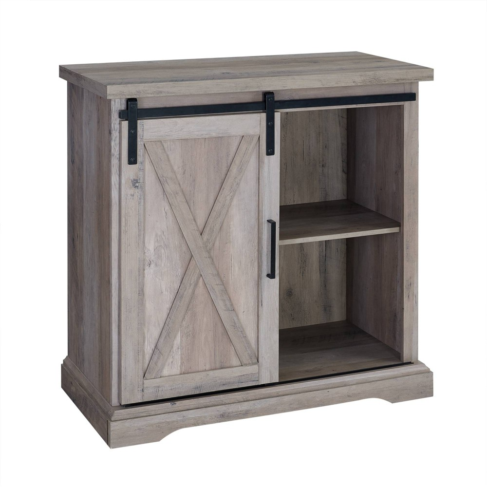 32 Rustic Farmhouse Buffet Gray Wash - Saracina Home