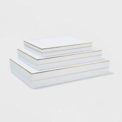 White with Gold Shirt Boxes Set of 3 - sugar paper™