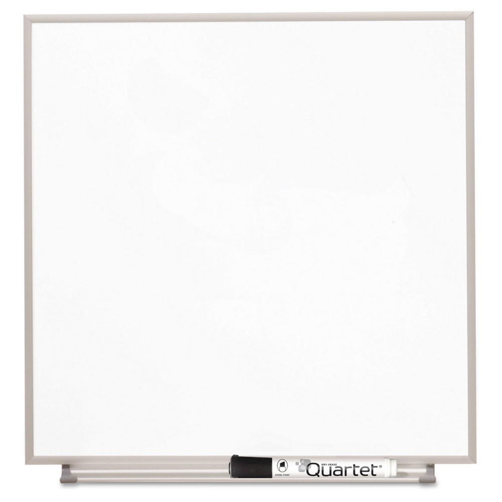 Quartet Magnetic Dry Erase Board, Painted Steel (Silver), 16 x 16, White, Aluminum Frame