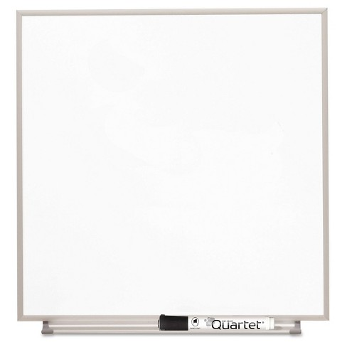 Quartet® Magnetic Dry Erase Board, Painted Steel, 23 x 23, White, Aluminum Frame - image 1 of 5