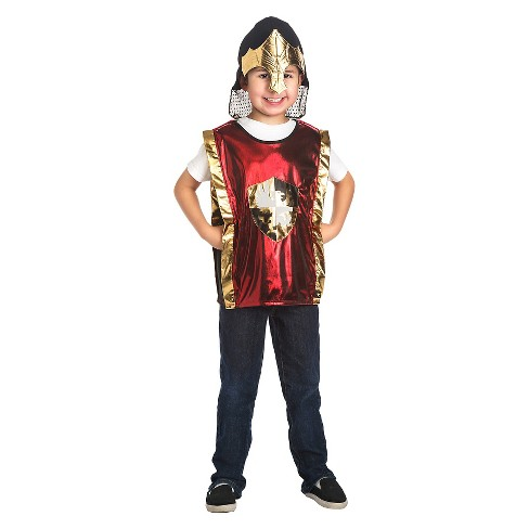 Little Adventures Red Knight Vest and Gold Helmet Set - image 1 of 1