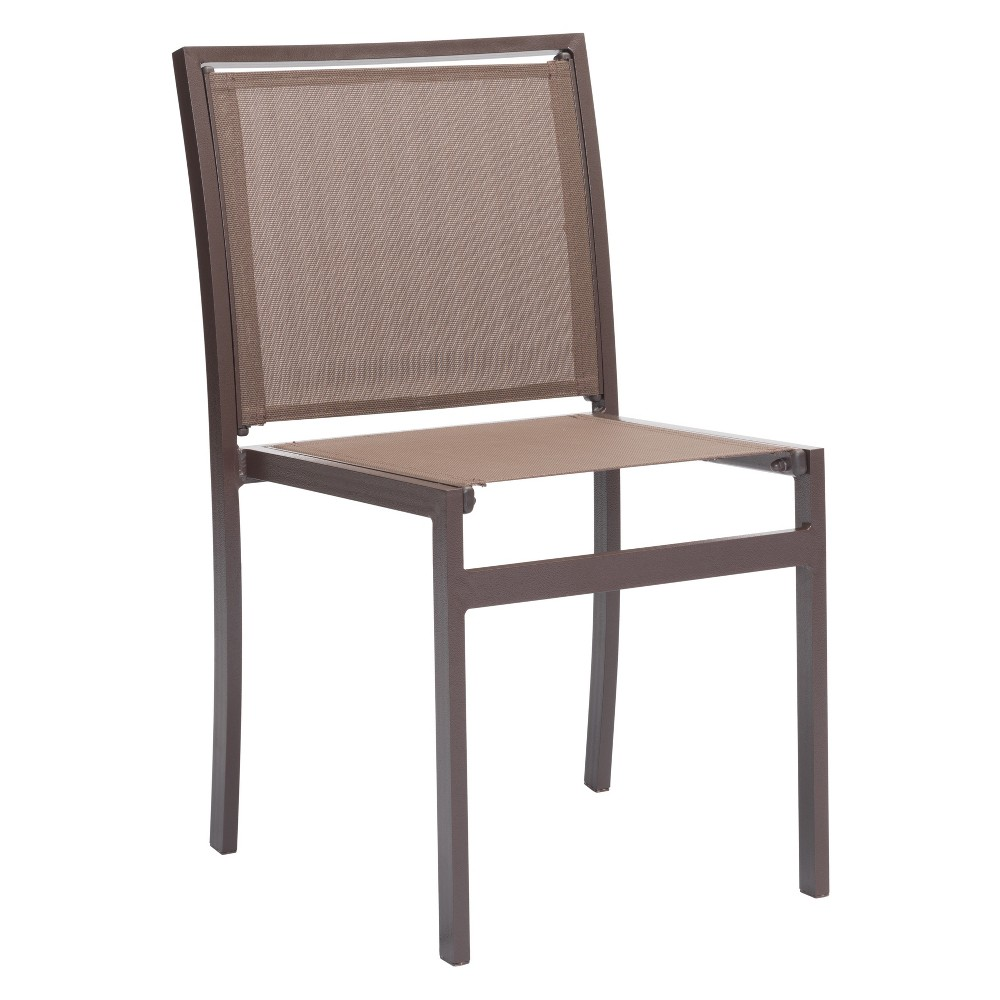 2pk Modern Stackable Dining Chair Brown - ZM Home