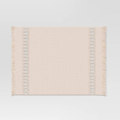 Cotton Hemstitch Placemat Gray - Threshold™