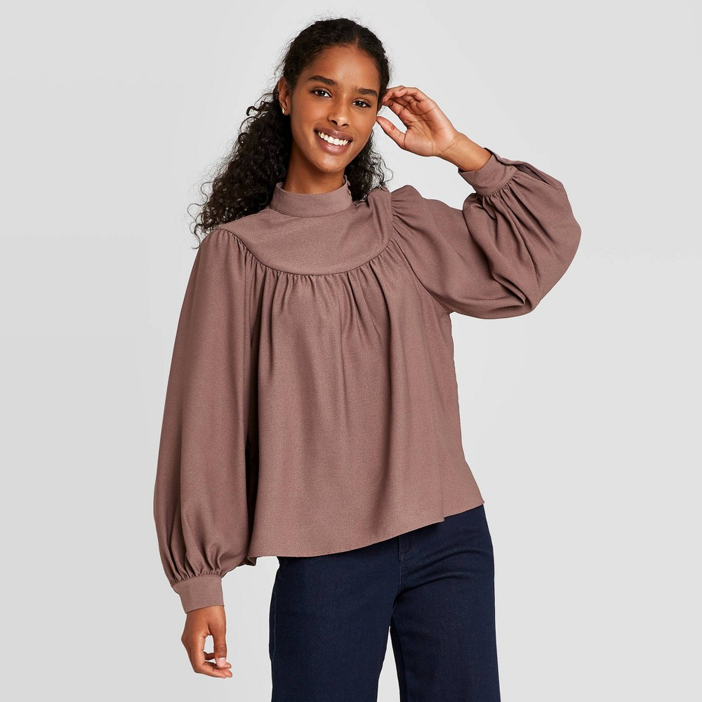 Compare Women's Long Sleeve Blouse  - A New Day™