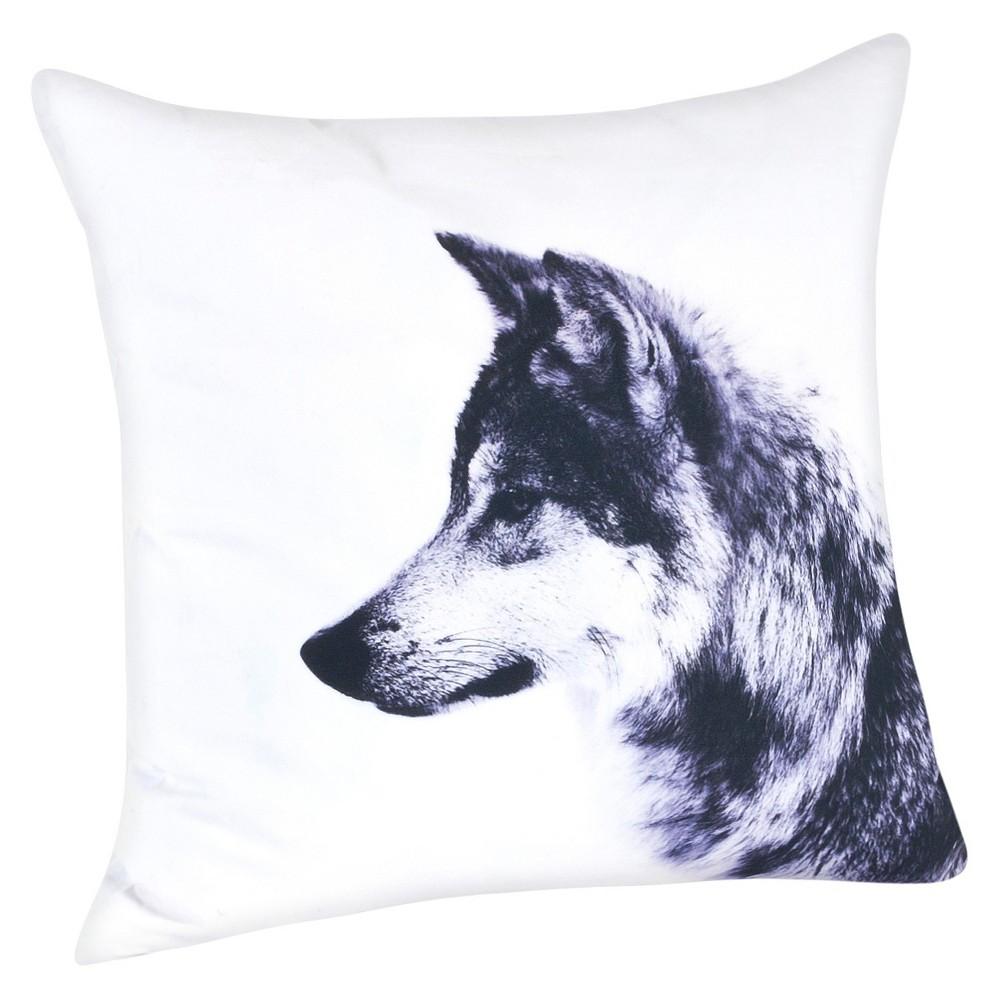 White Wolf Design Throw Pillow (20