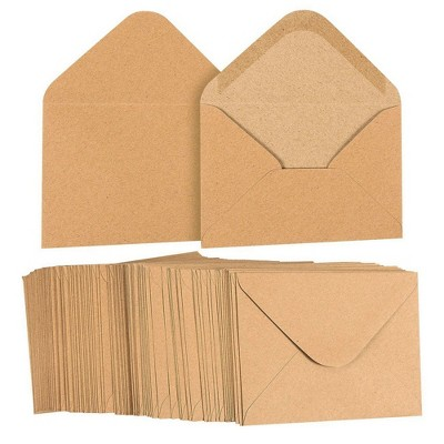 """Juvale 100-Count A2 Invitation Envelopes for 5"""" x 4"""" Cards & Party Invitations, Kraft Brown"""