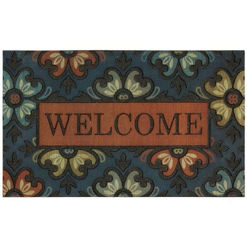 "1'6""X2'6"" Floral Doormats Blue - Mohawk - image 1 of 3"