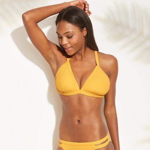 a54af4a2cd03f Women s Ribbed Triangle Bikini Top - Xhilaration™ Marigold D DD Cup ...