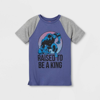 Boys' Marvel Black Panther Father's Day Short Sleeve Graphic T-Shirt - Purple