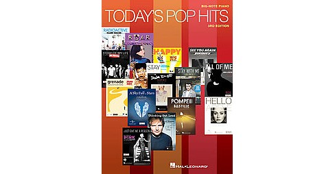 Today's Pop Hits for Big-Note Piano (Revised) (Paperback) - image 1 of 1
