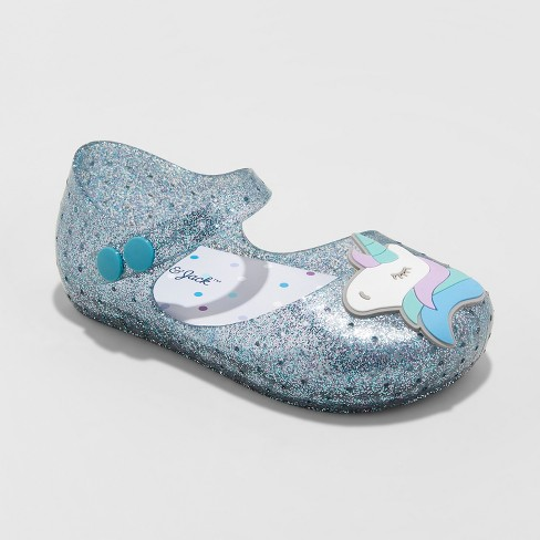 4cc6d8eed897 Toddler Girls  Fontaine Unicorn Mary Jane Jelly Sandals - Cat   Jack™ Blue  10   Target