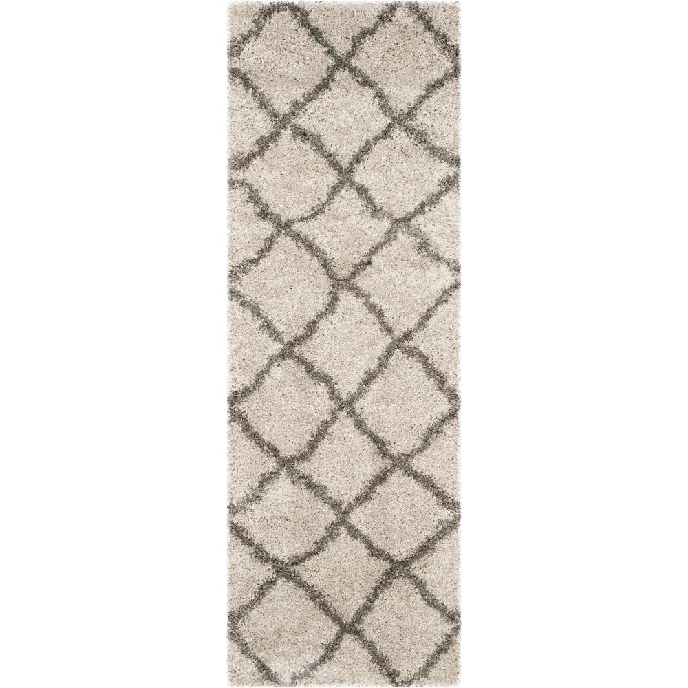 2'3X11' Geometric Loomed Runner Taupe/Gray (Brown/Gray) - Safavieh