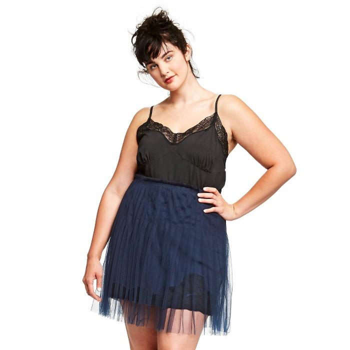 Women's Plus Size V-Neck Lace Cami - Rodarte for Target Black - image 1 of 4