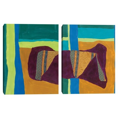 """(Set of 2) 18"""" x 24"""" Tapestry 1 and 2 by Dan Houston Canvas Art Prints - Masterpiece Art Gallery"""