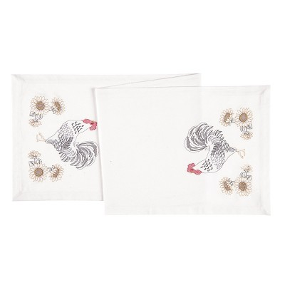 """C&F Home 14"""" x 51"""" Parisian Rooster Cotton Embroidered Table Runner"""