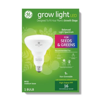 General Electric BR30 Grow Light With Balanced Spectrum Seeds & Greens LED Light Bulb - Clear
