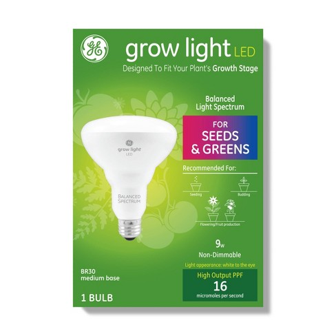 General Electric Br30 Grow Light With Balanced Spectrum Seeds